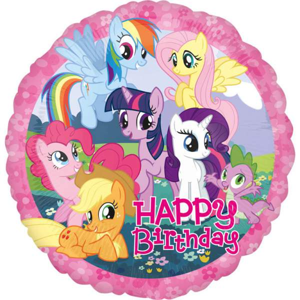 Fólia nagy lufi Happy Birthday My Little Pony