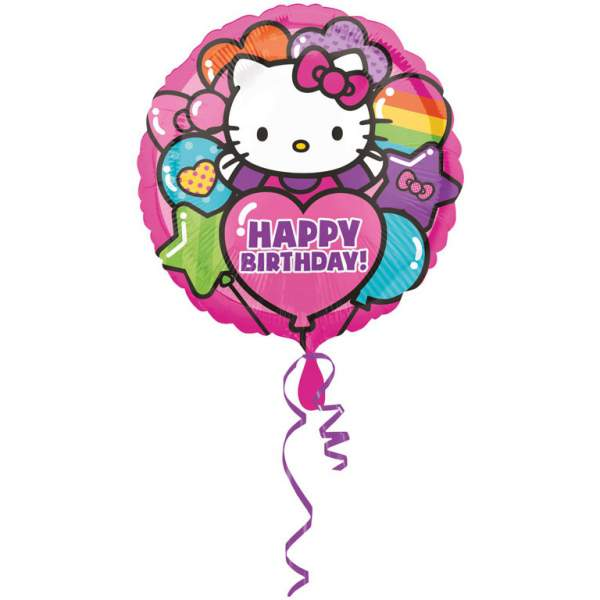 Fólia nagy lufi Happy Birthday Hello Kitty